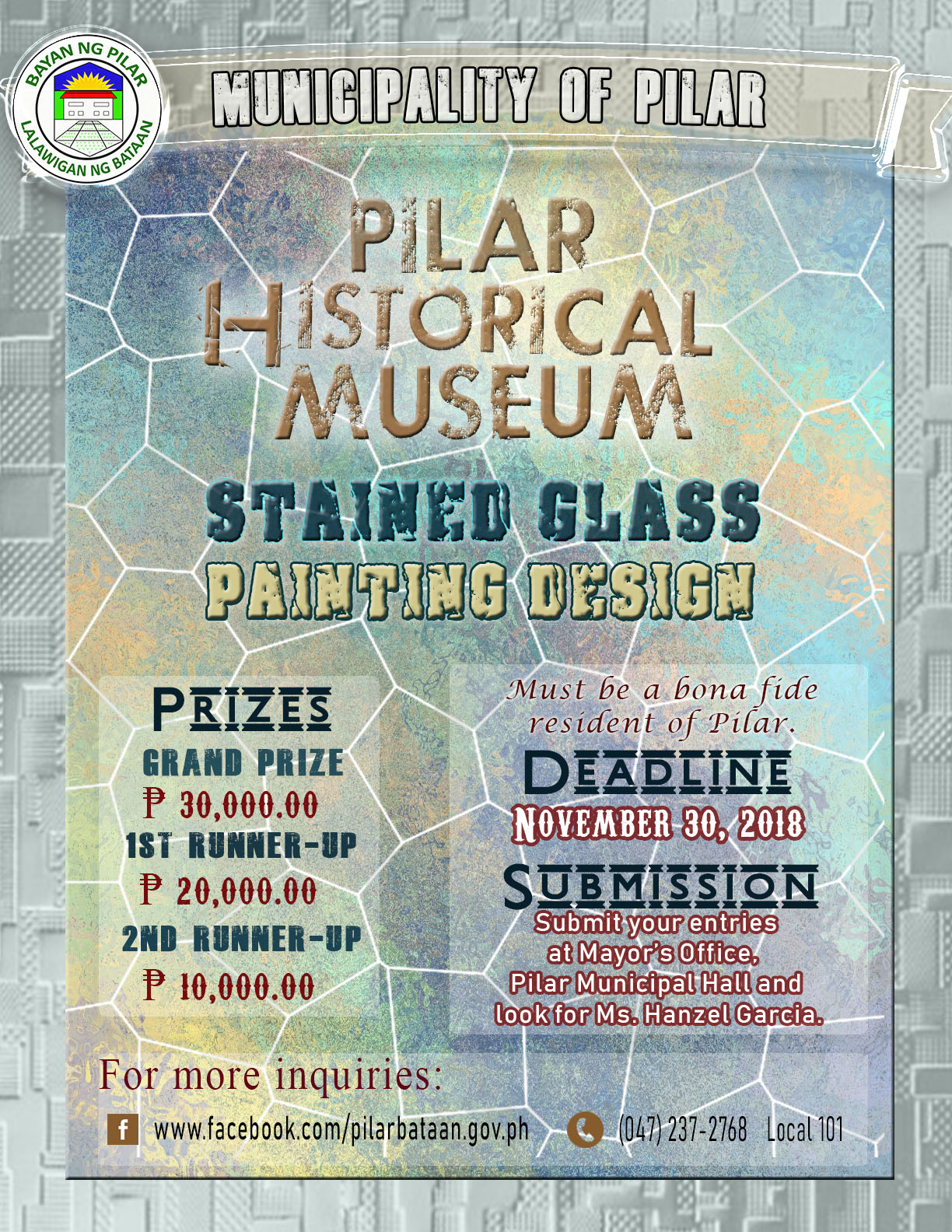 Poster for Stained Glass and Painting Design