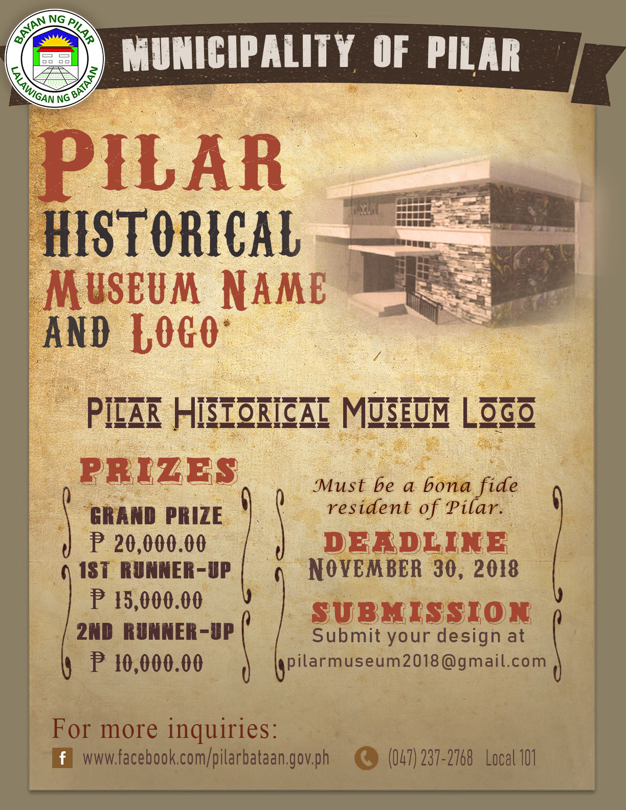 Museum Logo and Name Poster