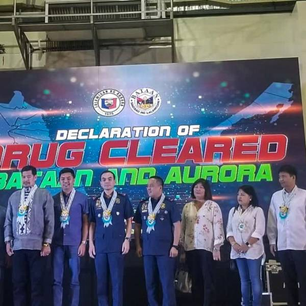 Declaration of Drug cleared Bataan and Aurora