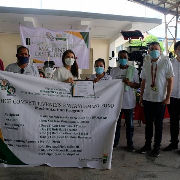 Turn-over ceremony of Agricultural Machinery to eight farmer associations in Bataan under the Rice Competitiveness Enhancement Fund Mechanization Program