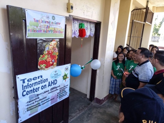 Ribbon cutting and launching of Teen Information Center